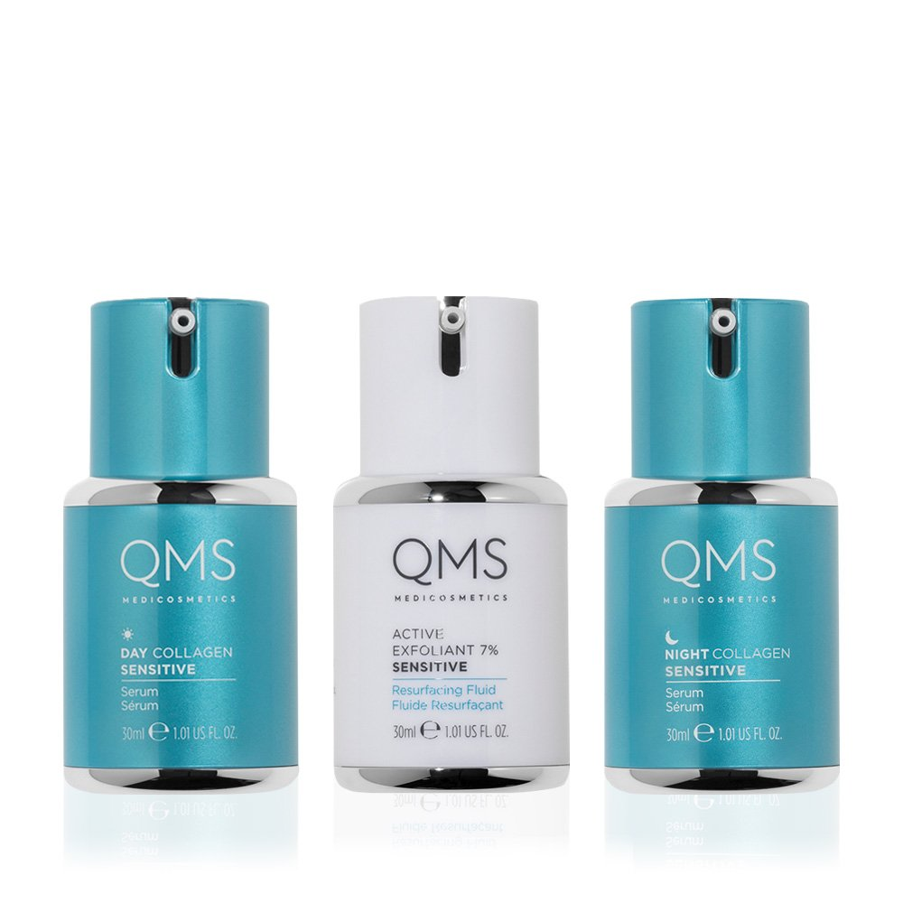 QMS Collagen System Sensitive 3-Step Routine Set